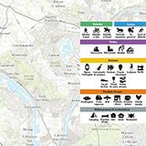 Carte des activités dans les parcs naturels